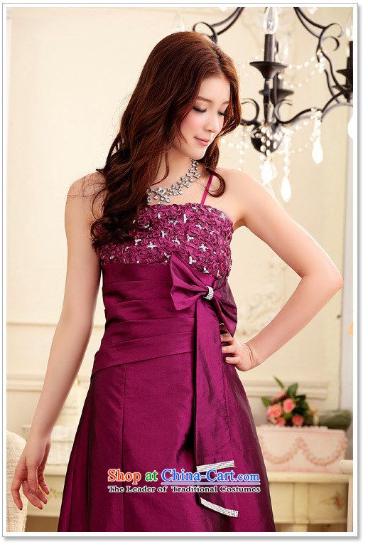 Of the2015 Korean glued to the new women's marriage banquet modestly elegant lace water drilling Bow Tie long dress Sau San dresses 3948 champagne colorpictures, prices, XL brand platters! The elections are supplied in the national character of distribution, so action, buy now enjoy more preferential! As soon as possible.