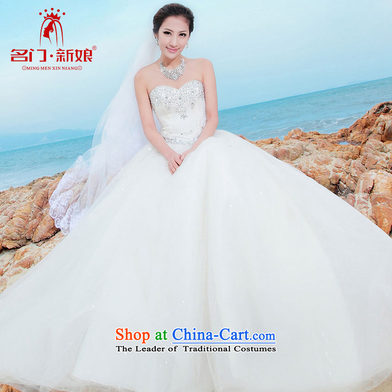 Name the new bride door Korean Won version sweet princess alignment with chest wedding 839 M