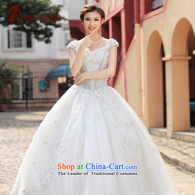 A bride wedding dresses shoulders wedding canopy ponzi to Princess wedding new 893 M