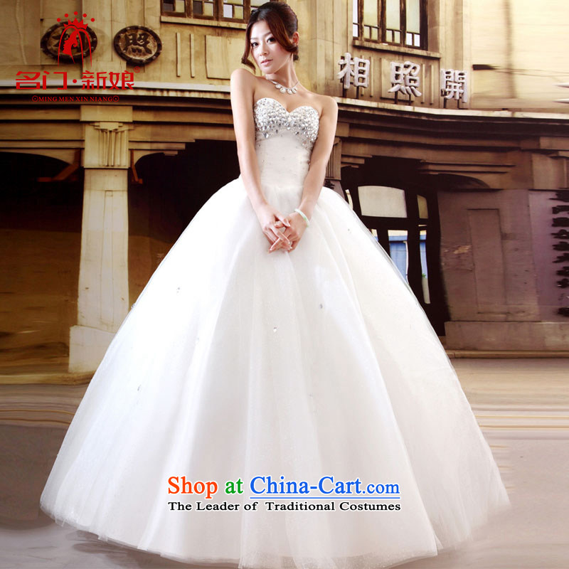 A bride wedding dresses new Korean style wedding Princess Mary Magdalene chest with sweet wedding band 532 S