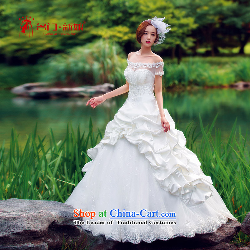 A Korean version of the bride and sweet Princess Korean-style chest wedding align to 744 Single wedding?M