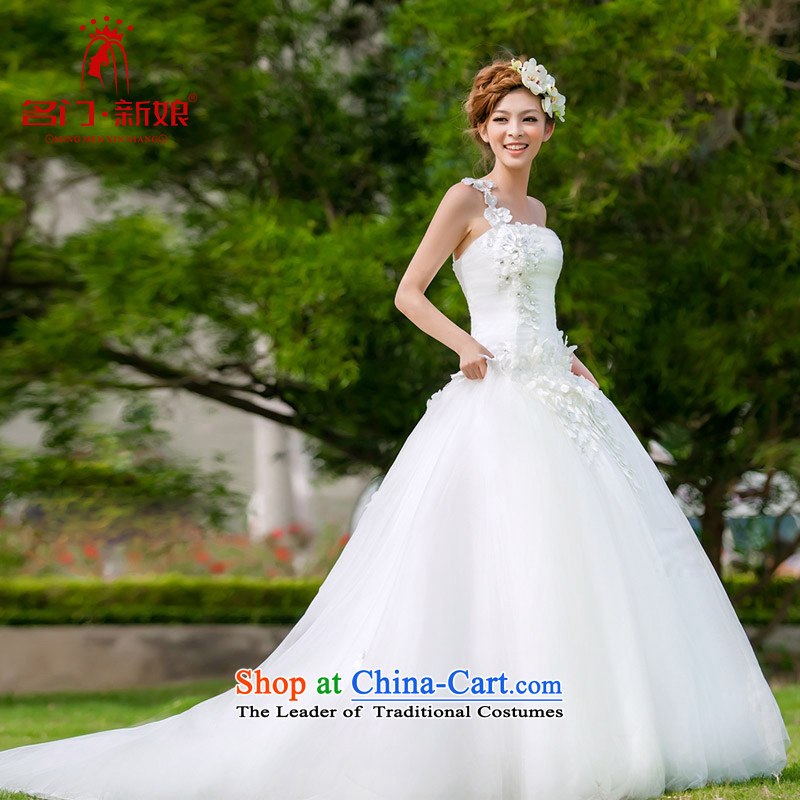 A bride wedding dress shoulder wedding to align the Korean Princess wedding crowsfoot small trailing wedding 935 M