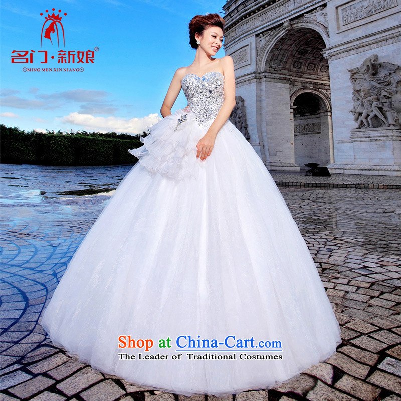 A bride wedding dresses Korean Princess wedding upscale wedding new 894 White聽M
