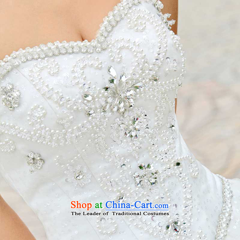 A bride wedding dresses Korean Princess wedding alignment with chest wedding 901 M, a bride shopping on the Internet has been pressed.