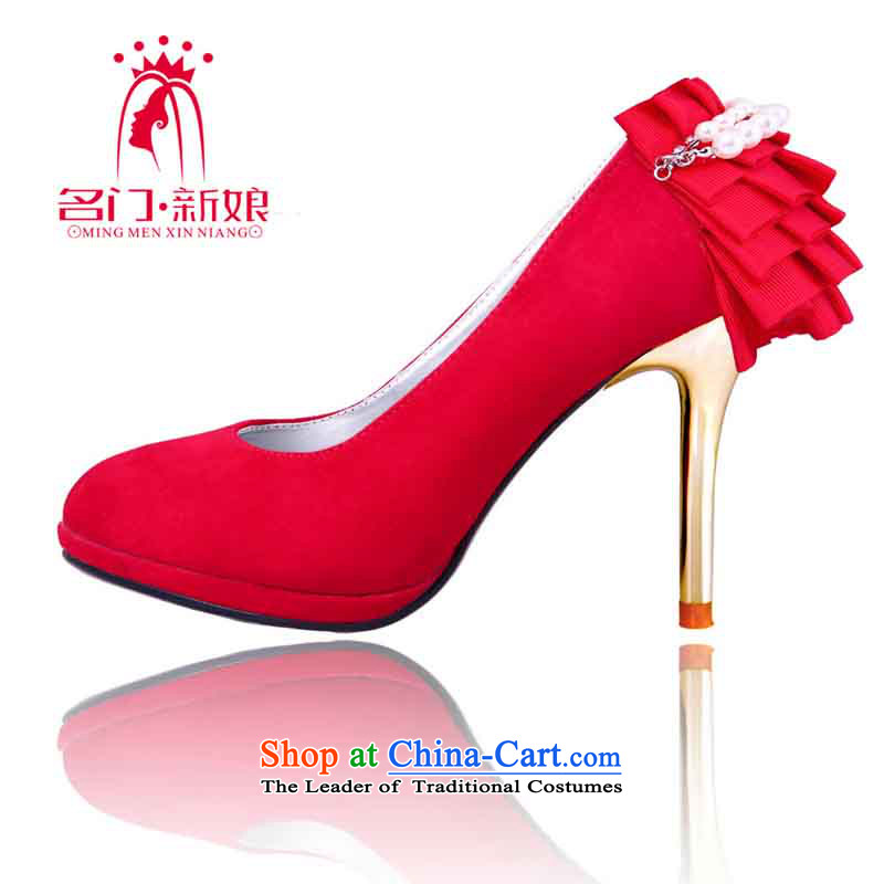 A bride Han high heel version of Red Shoes聽2015 new marriage first marriage shoes bride shoes 088 39