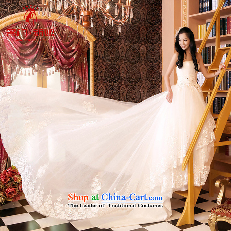 Name the new bride door Korean bon bon princess wedding Korean wiping the chest wedding?tail standard, 818 L