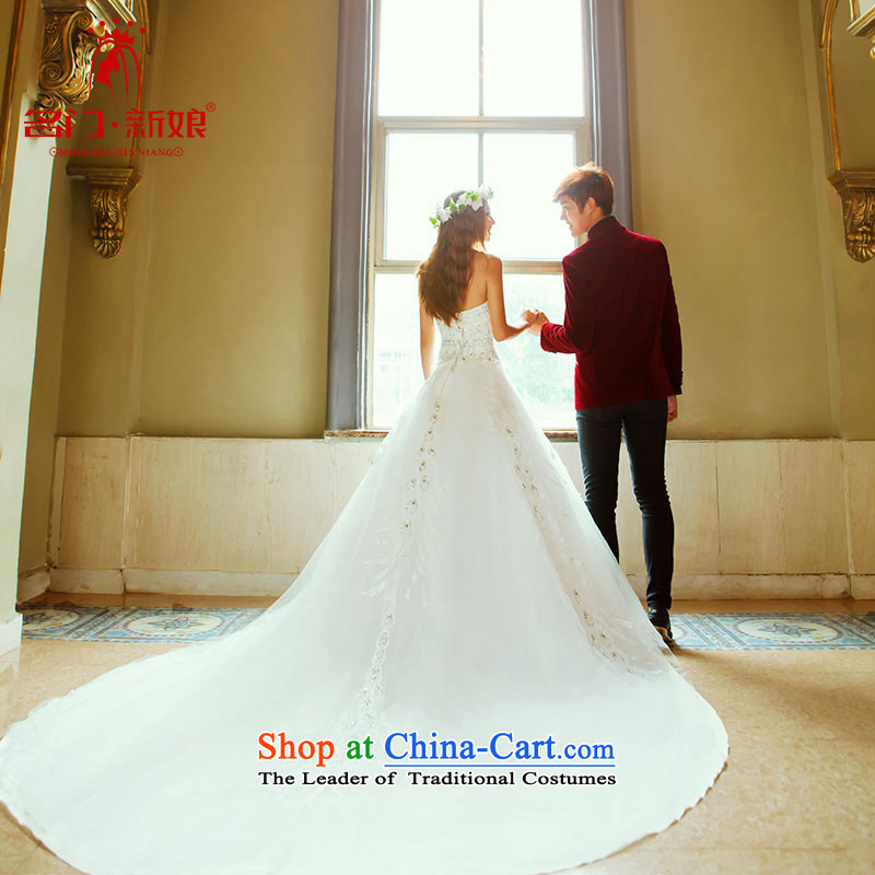 A bride wedding dresses Korean sweet princess wedding new deluxe long tail wedding 913 S