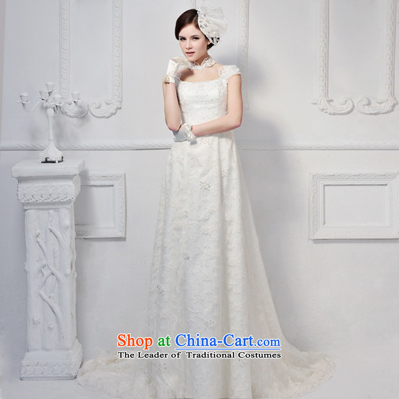 2015 new spring and autumn wedding dresses Korean lace package shoulder wedding dresses quarter end wedding dresses 8,605 tail tailored 50cm