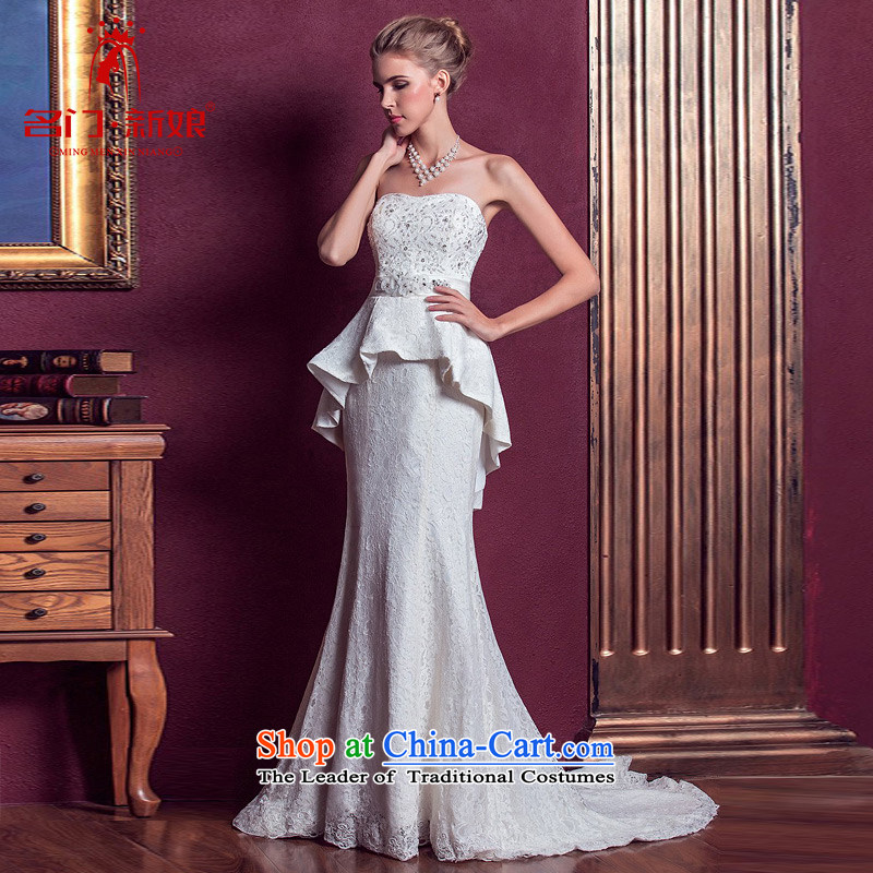 A bride wedding dresses elegant small trailing wedding anointed chest lace wedding new 972 M