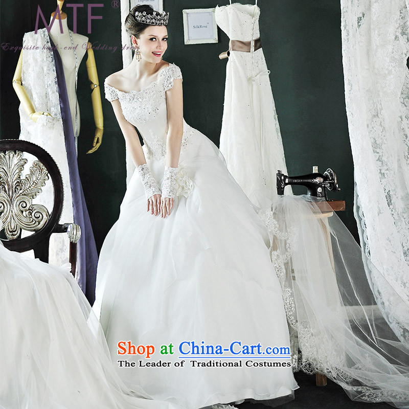 Full Chamber /MTF Fong made fashionable Korean word princess shoulder wedding dresses H996 new land align tailored