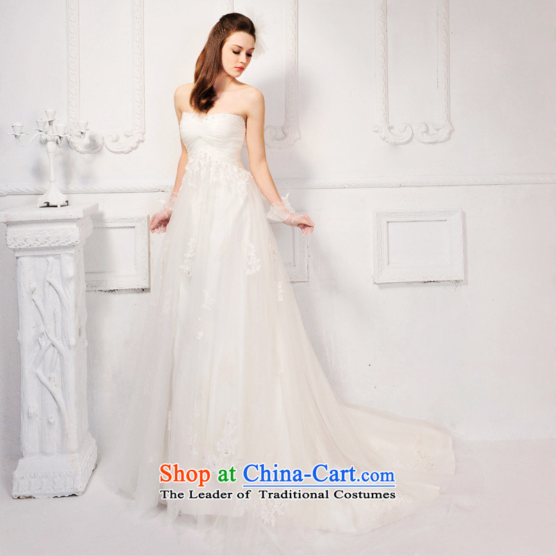 Full Chamber /MTF Fong Korean anointed chest elegant lace tail wedding dresses?2015 new?TENDER GOVT.?Trailing tailored 50cm