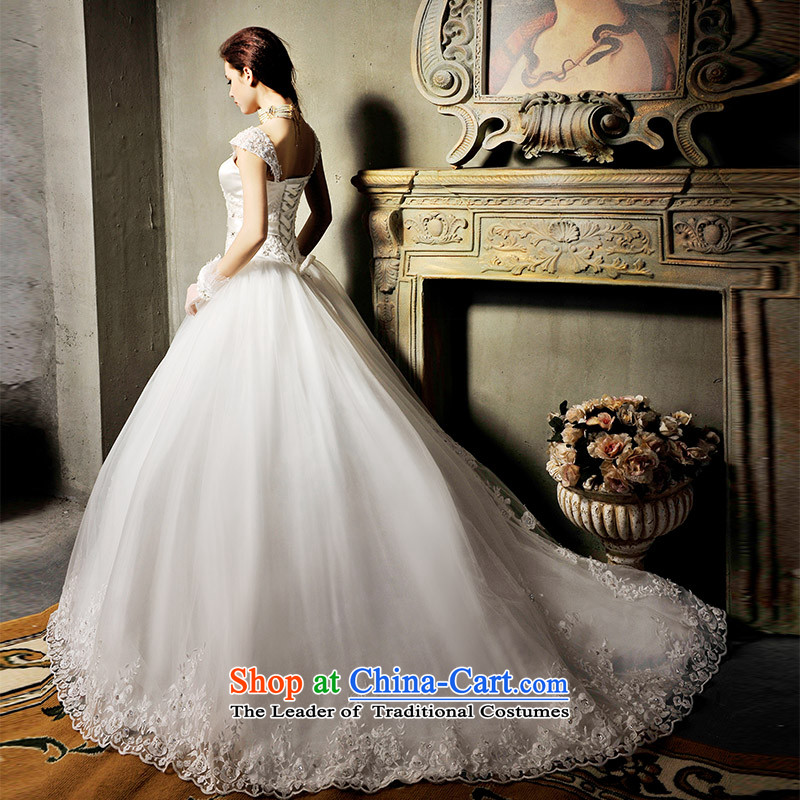 Mtfs9099�lace crystal package and chest with shoulder-Korean noble Deluxe Big tail wedding tail 173-S 60cm