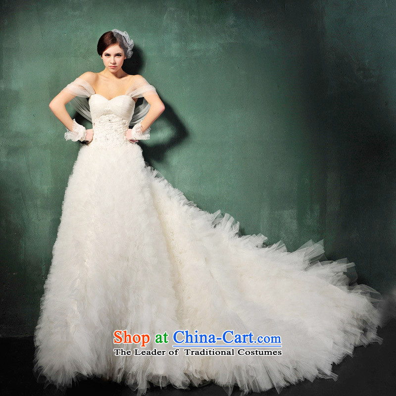 The new 2015, Mr Tung Chee Hwa with Korean version of the winter Princess Mary Magdalene Chest straps sweet tail wedding dresses S609 tail 165-M 100cm