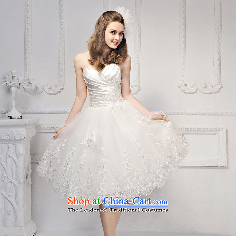 2015 new full Chamber /MTF Fong Korean short of Princess bon bon skirts and chest lace wedding dresses�S623�ivory tailored