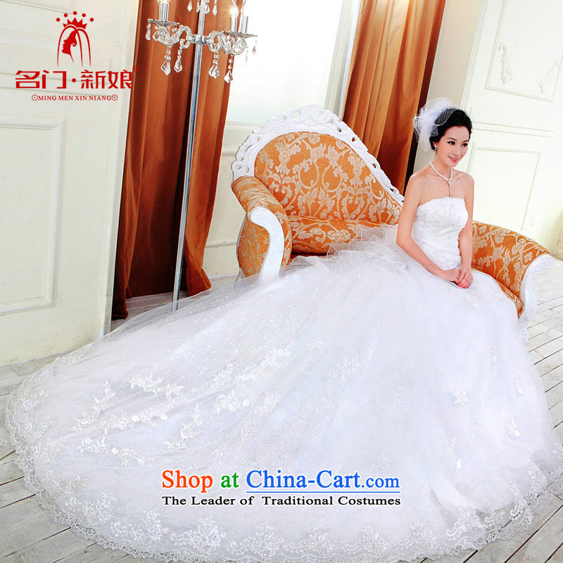 A bride wedding dresses new Korean Princess Wedding Deluxe Big tail wedding 925 L