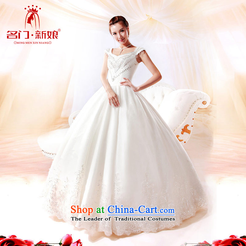 A bride wedding luxury water drilling wedding Korean to align the princess wedding new?912 L