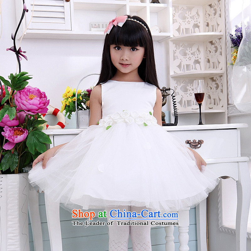Children's wear dresses guijin Keun-shared child will dance services Cygnet Plaza bon bon skirt t07 m White?4 yards from Suzhou Shipment