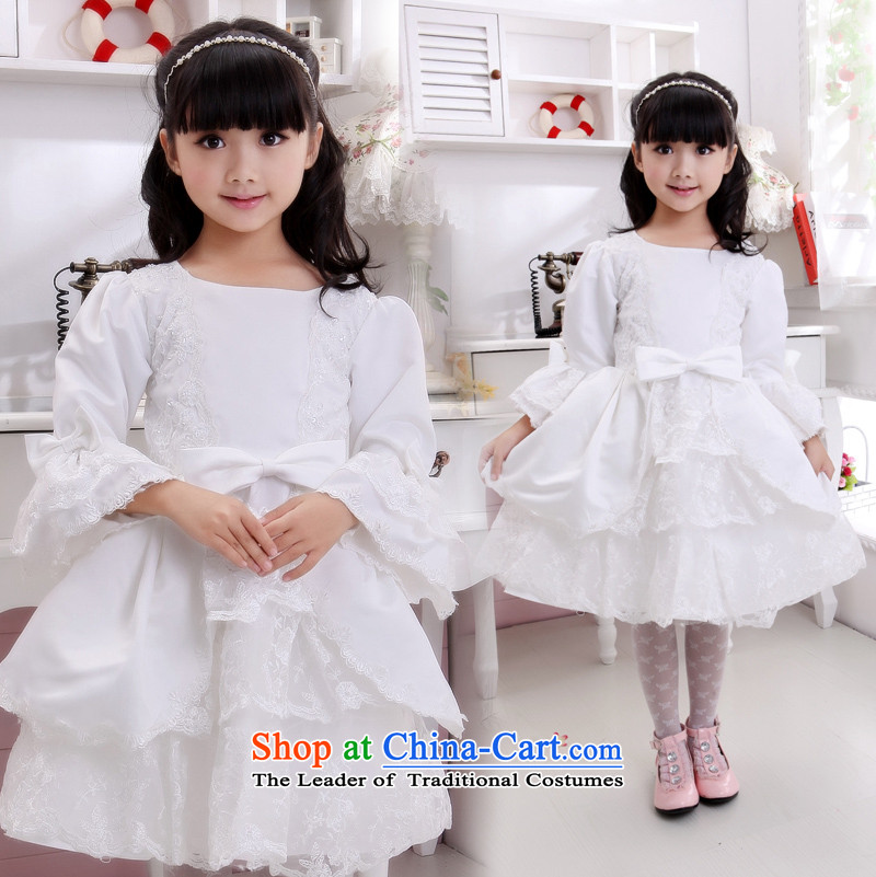 Shared Keun guijin angel children's wear dresses baby lace children will dance to?t11?m White?6 yards from Suzhou Shipment