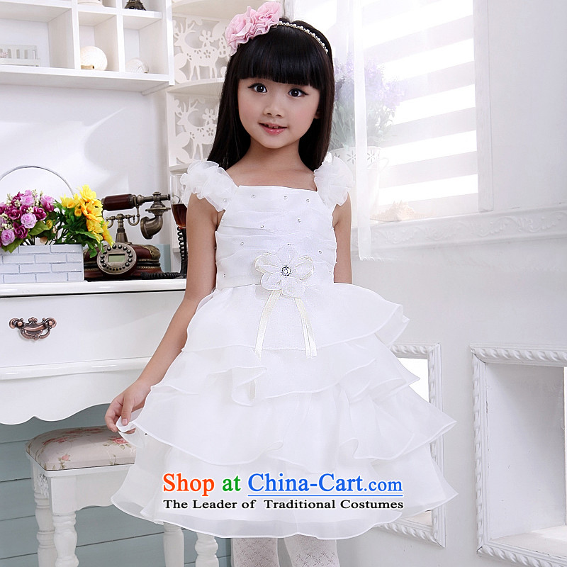 Children's wear dresses guijin Keun-shared child will dance to shoulder the princess skirt t08 m White?6 yards from Suzhou Shipment