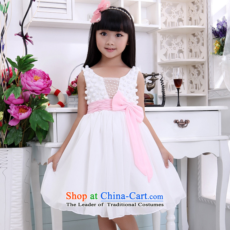Shared-keun guijin girls children's wear bow tie dresses children services will dance dress t02 8 from Suzhou Shipment