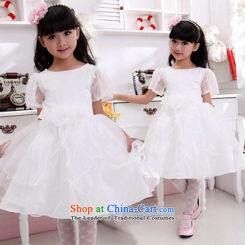 Children's wear dresses guijin Keun-shared child will dance to lace princess birthday skirt t23 m White?6 yards from Suzhou Shipment