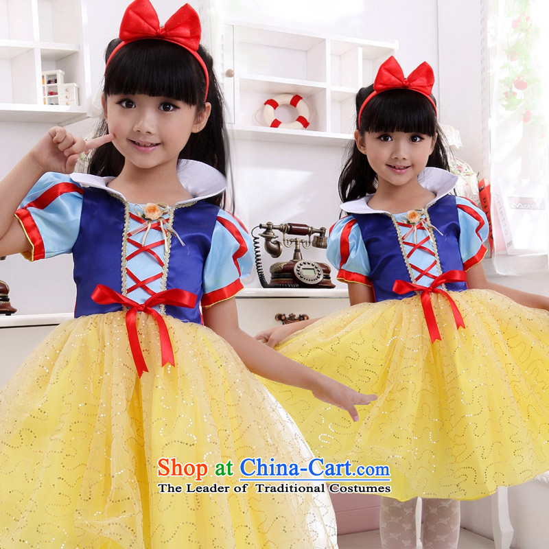 Shared Keun guijin snow white children children's wear dresses wedding dresses skirt princess skirt girls dress dress children will serve 4 yards t17 dance from Suzhou Shipment
