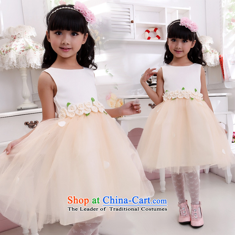 Shared-keun guijin children children's wear dresses Flower Girls petals dress dress children will serve t19 dance 6 yards from Suzhou Shipment