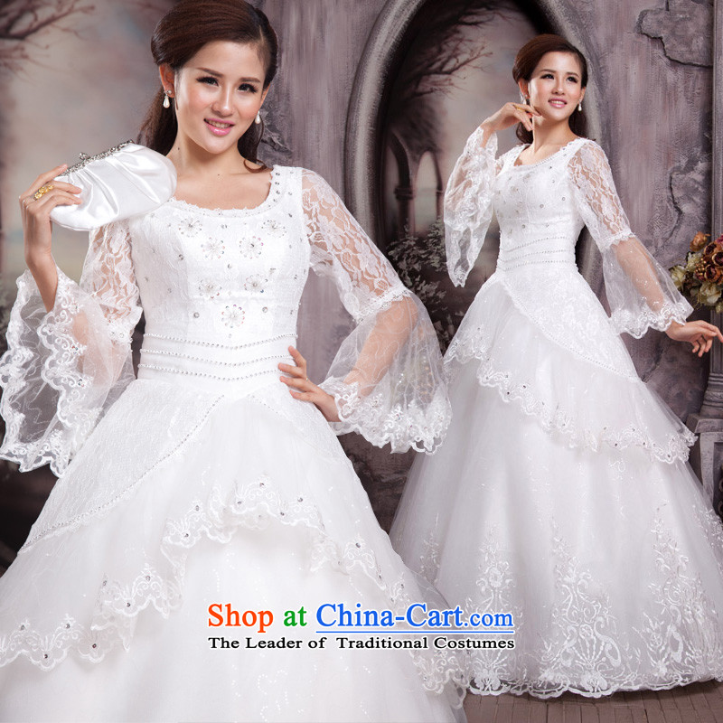 Shared Keun guijin 2013 new Korean horn cuff lace straps to align the wedding h382 m White�XL code from Suzhou Shipment