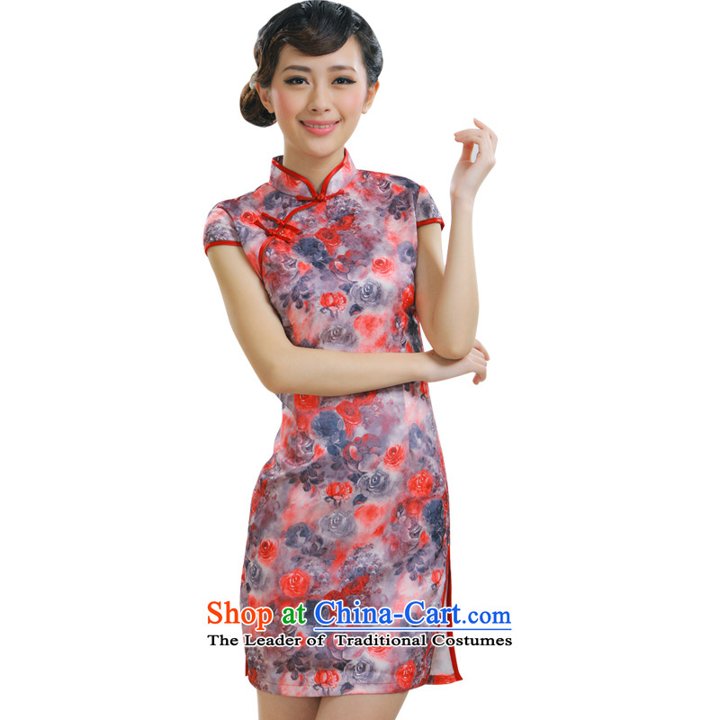 The former Yugoslavia Li aware of Chinese New Year 2015 cheongsam dress stylish improved daily saika cheongsam dress�QR009�pink�L