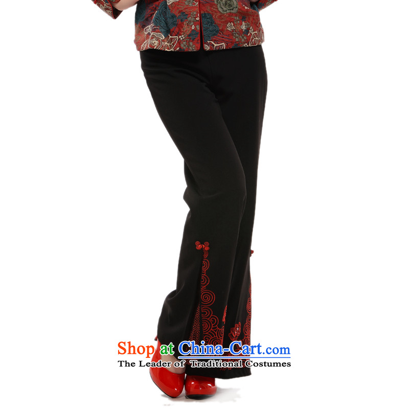 The former Yugoslavia (2015), know as soon as possible Li, Ms. older clothing Tang pants retro style Xiangyun pants�QB091 improved�Black�XL