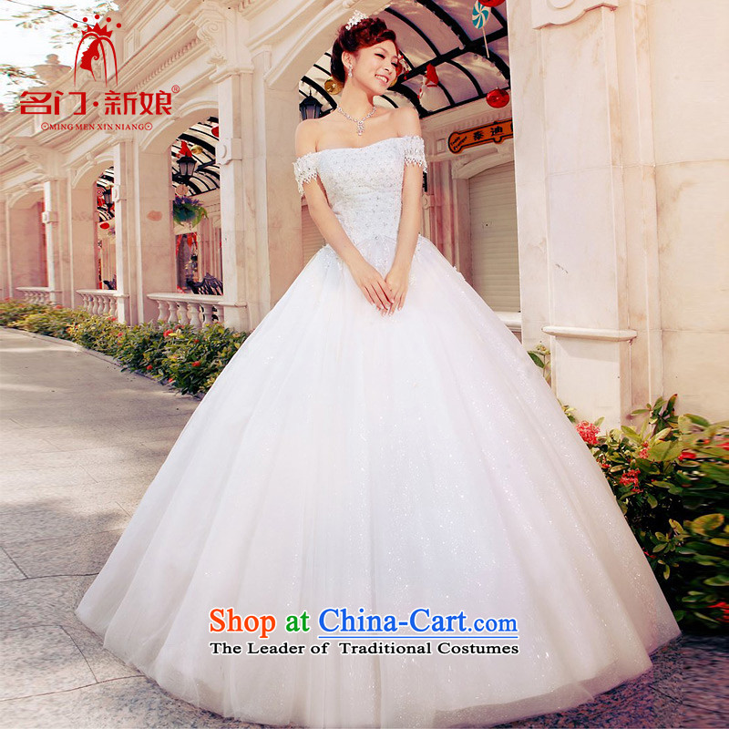 A bride wedding dresses of the Word 2015 wedding shoulder new products to align the princess bon bon wedding A979 M