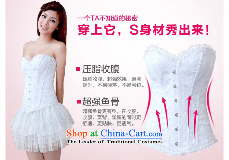 A bride wedding underwear and chest harness the particles for Slimming undergarments for wedding dress