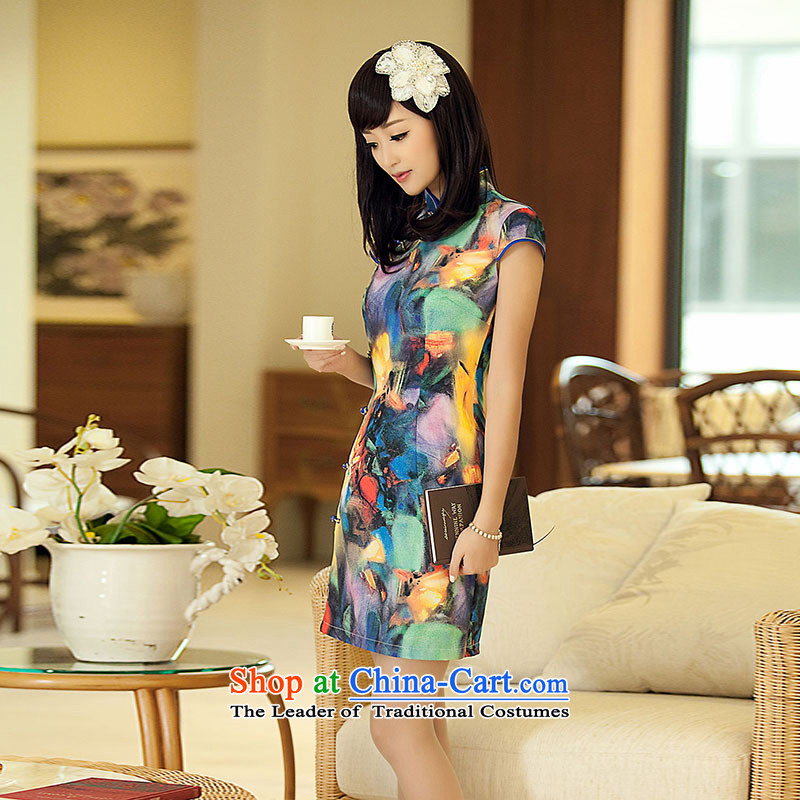 【 Yat lady health healthy dance new summer temperament qipao gown and stylish modern improved retro qipao2XL, suit Yat Lady , , , shopping on the Internet