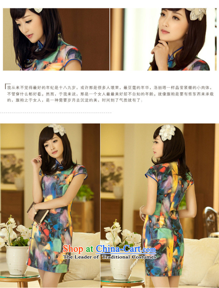 【 Yat lady health healthy dance new summer temperament qipao gown and stylish modern improved retro qipao suit2XL Photo, prices, brand platters! The elections are supplied in the national character of distribution, so action, buy now enjoy more preferential! As soon as possible.