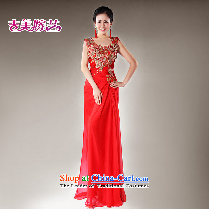 Wedding dress Kyrgyz-american married arts 2013 New 2 Korean bridal dresses shoulder tail 980 bride dress red�L