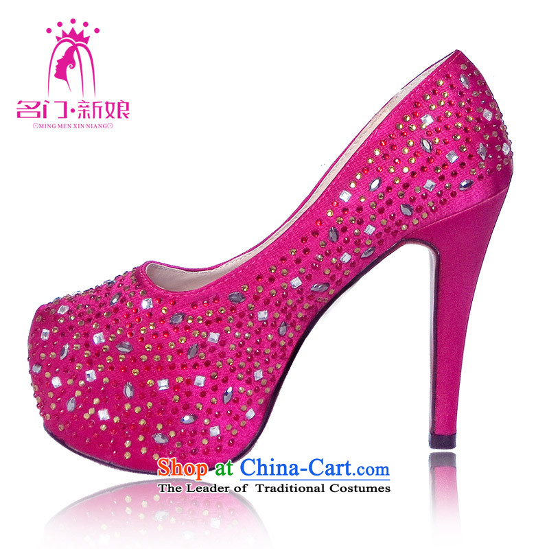 A bride Han high heel version of Red Shoes?2015 new marriage first marriage shoes bride shoes 0 87 37