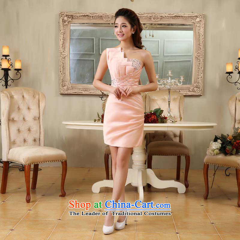 Starring guijin Keun-shared PINK FLASH STYLISH FIT and sexy beauty bride dress uniform k64 bows pink?XXL code from Suzhou Shipment