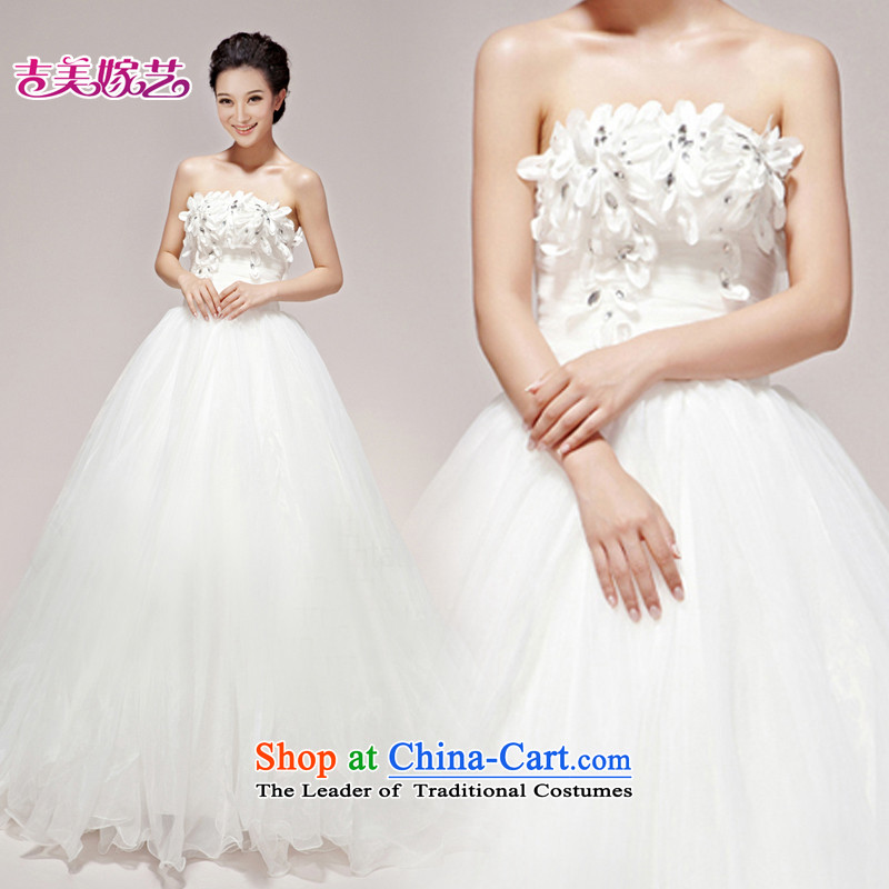 Beijing No. year wedding dresses Kyrgyz-american married new anointed arts 2015 Chest Korean skirt HS610 to align the Princess Bride wedding?S
