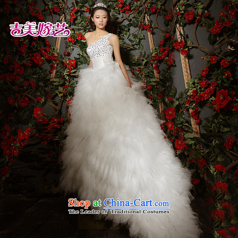 Beijing No. year wedding dresses Kyrgyz-american married arts shoulder the new 2015 Korean skirt to align the princess tail 532 bride wedding?1m tail?S