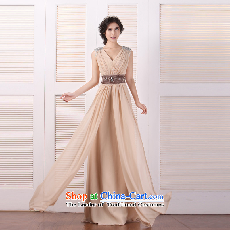 ?Classic Sau San bride mslover long gown? CLF121007?champagne color?S