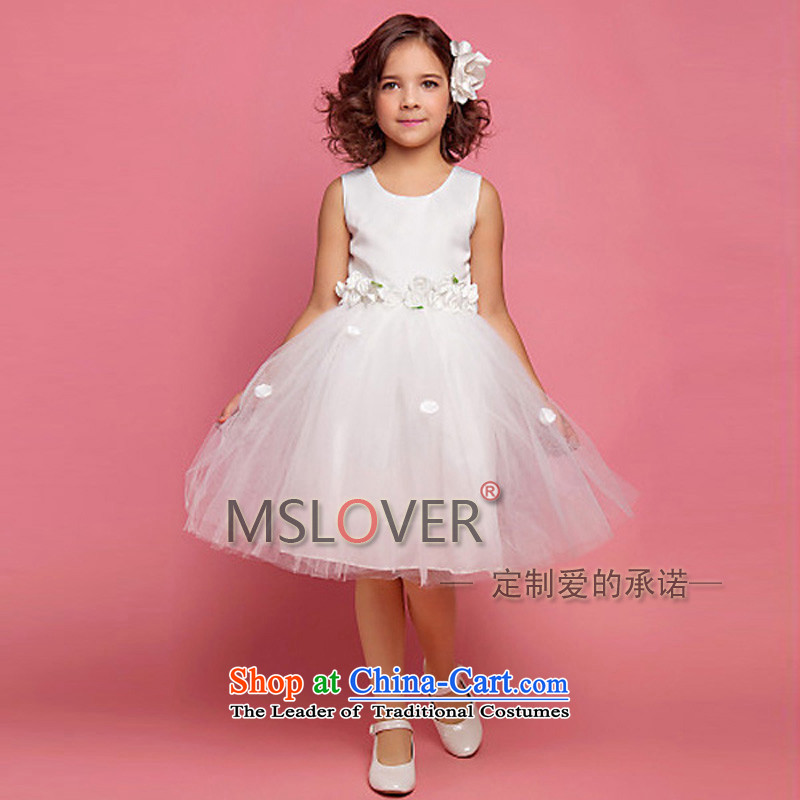 �System sum fresh mslover bon bon skirt girls princess skirt children dance performances to dress wedding dress Flower Girls dress HTZ1222 rice white�12 code (3-7 day shipping) scheduled