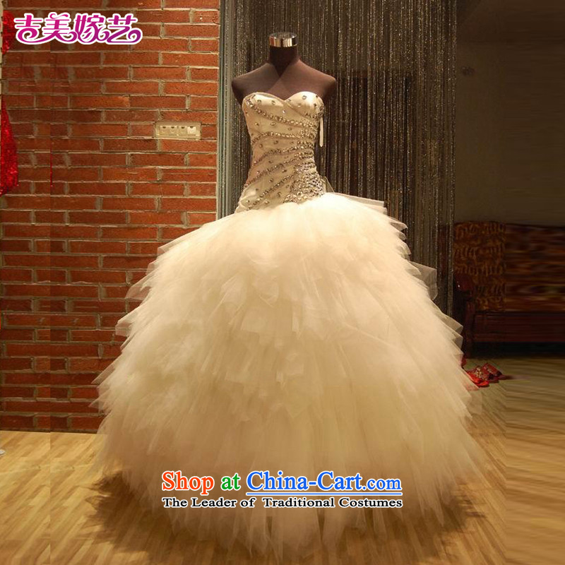 Beijing No. year wedding dresses Kyrgyz-american married arts 2013 new anointed chest Korean and tail HT534 Sau San bride wedding to align the?M