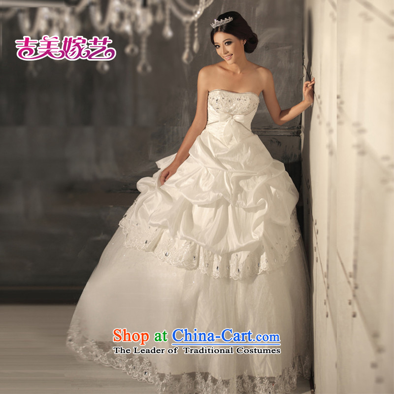 Beijing No. year wedding dresses Kyrgyz-american married arts 2012 new anointed chest Korean skirt HS538 to align the Princess Bride wedding ivory M