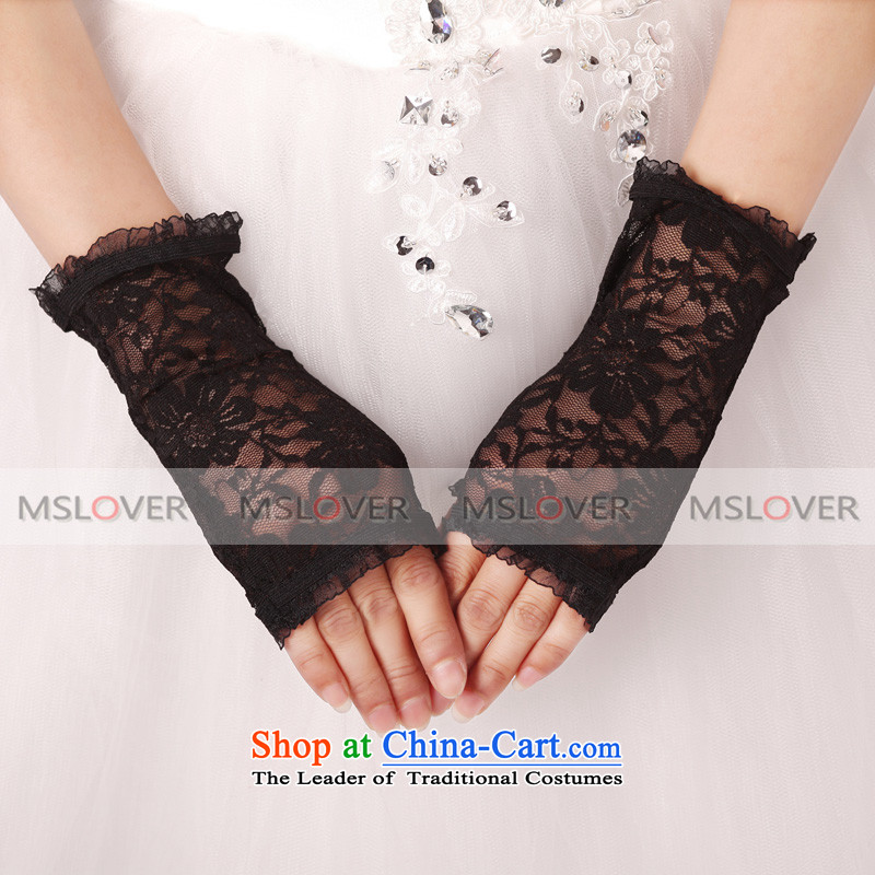 ?Elastic lace mslover lace short, terrace, which represents the dinner show bride gloves?ST1236?black