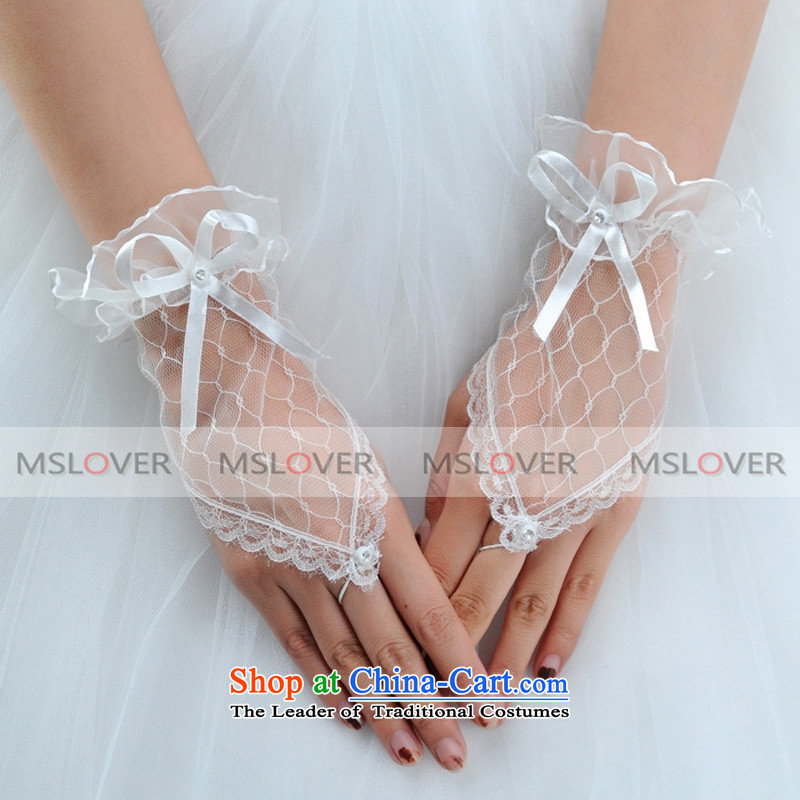 �Mesh side terrace mslover lei refers to short of the dinner show marriages gloves�ST1322�m White