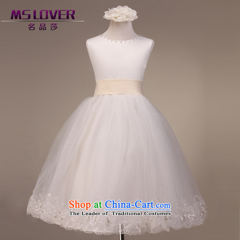 Mslover�temperament sleeveless bon bon skirt girls princess skirt children dance performances to dress wedding dress� 5803�m White�6 yards