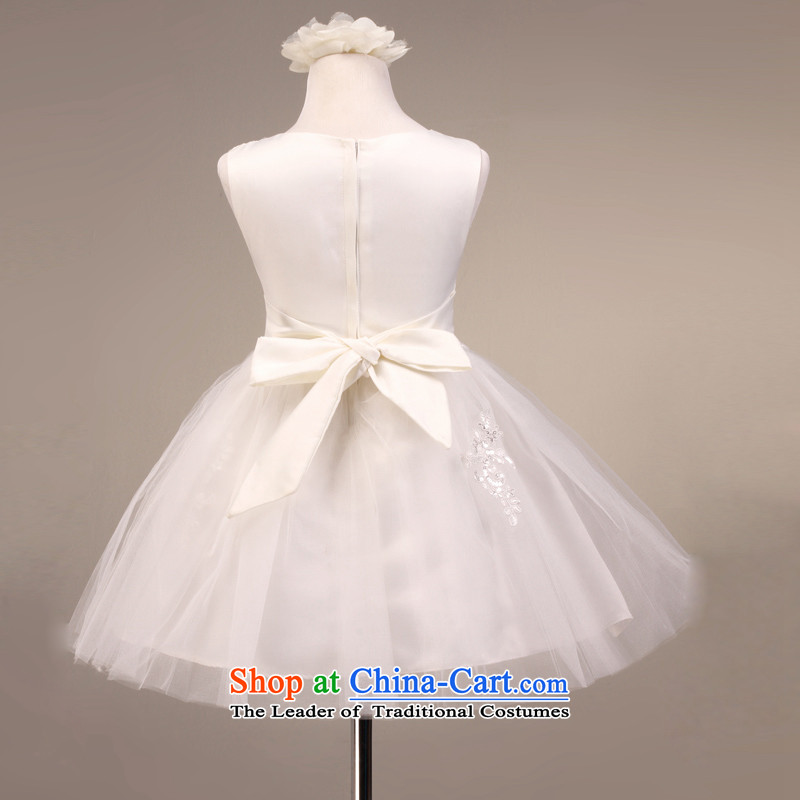 High-end mslover lace sleeveless skirt girls princess skirt wedding dresses skirts performances Flower Girls dress 5813 m White 10 yards (3-7 Day Shipping, Scheduled, Lisa (MSLOVER) , , , shopping on the Internet