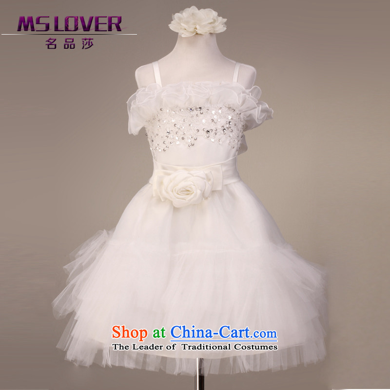 ?The lifting strap is lovely mslover bon bon skirt girls princess skirt children dance performances to dress wedding dress Flower Girls?5851?m?4 white dress code