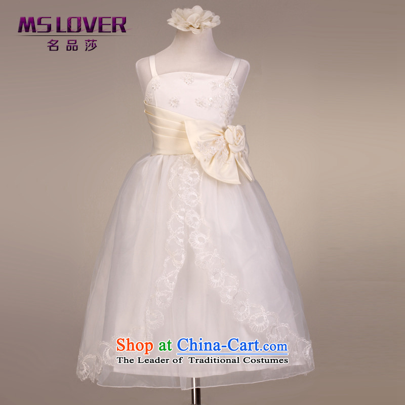 ?The lifting strap is luxury mslover bon bon skirt girls princess skirt children dance performances to dress wedding dress Flower Girls dress??code 9032 m White 6