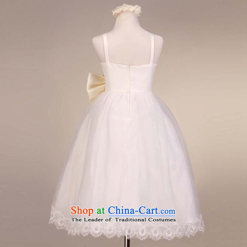 The lifting strap is luxury mslover bon bon skirt girls princess skirt children dance performances to dress wedding dress Flower Girls dress  code 9032 m White 6, name of Lisa (MSLOVER) , , , shopping on the Internet
